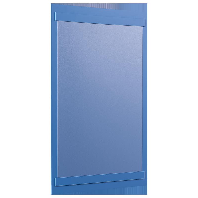 ahpart Aushangtafel A4 Hochformat blau