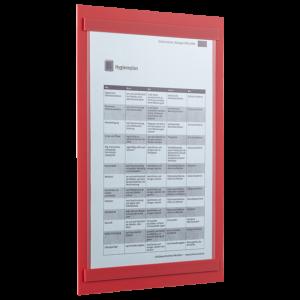 ahpart Aushangtafel Standard Hochformat A4 rot