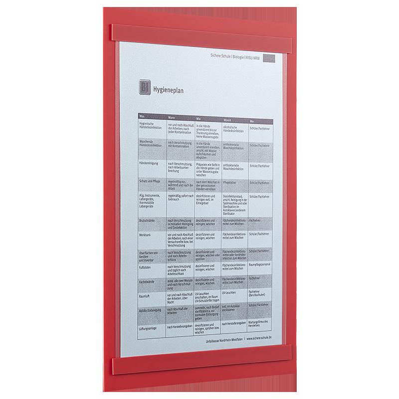 ahpart Aushangtafel Standard A4 im Hochformat rot
