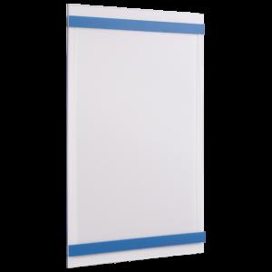 ahpart Aushangtafel transparent A4 Hochformat blau