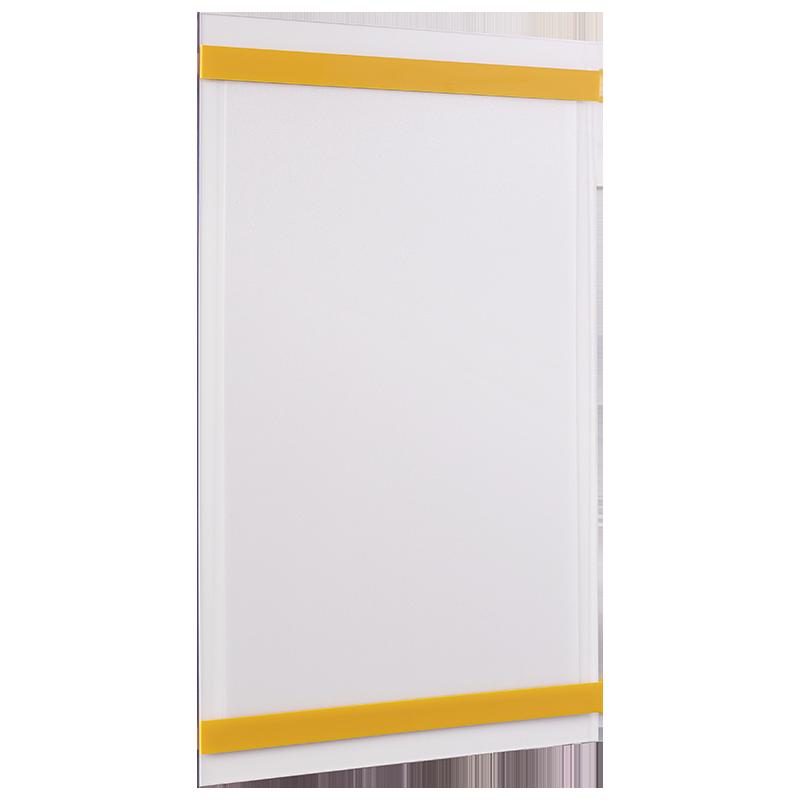 ahpart Aushangtafel transparent A4 Hochformat gelb