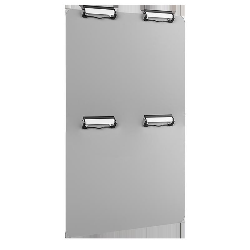 ahpart Mehrklemmfeld MKF 4, A4 Hochformat grau